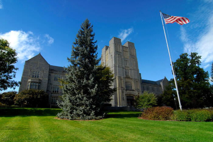 Burruss Hall at Virginia Tech University