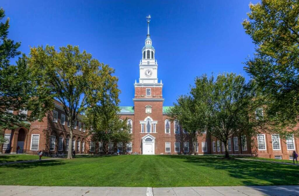 cheapest ivy league schools dartmouth college
