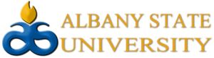 The logo for Albany state University