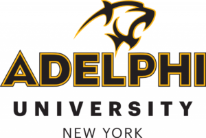 The logo for Adelphi which which is one of the best online colleges in nyc
