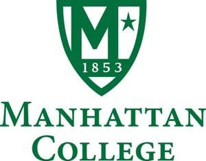 The logo for Manhattan collage which is a great school online in nyc