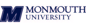 The logo for Monmouth University which is a great online college in nyc
