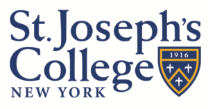 Th e logo for St. Joseph's College which is one of the top online university new york